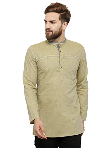 Apparel Men's Cotton Designer Short Kurta 38 ()