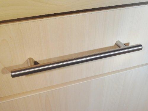 20 maniglie da cucina a T in acciaio spazzolato, dimensione 192 mm da un foro all'altro dimensione 192 mm da un foro all' altro
