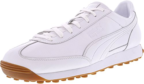 Puma Mens Easy Rider Premium Ankel-hög Läder Fashion Sneaker Puma White-puma Vit