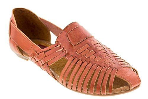 Women's Huaraches on Soft Slip Flip Handmade Brown Leather Sandals Shoes Flop wwqzUSrg