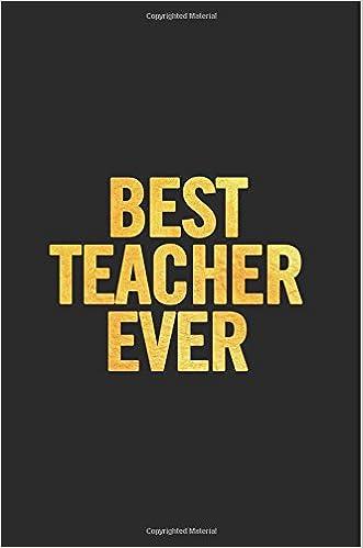 Best Teacher Ever: Libreta a rayas pequeña, bonita. Regalo perfecto, original y personalizado para profesor o profesora de inglés.