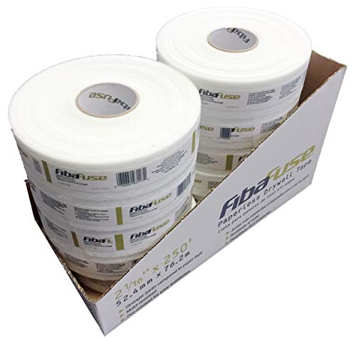 Adfors FibaFuse FDW8652 Paperless Drywall Joint Tape 2 in. x 250 ft. White, Pack of - Drywall Paper Tape
