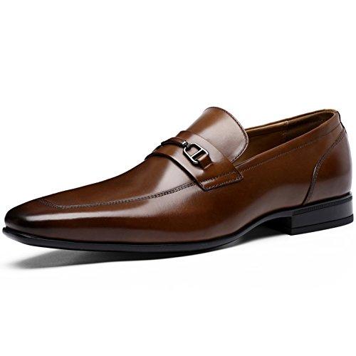 Desai Scarpe Uomo-Mocassini Uomo Eleganti Stile di Pelle Liscia Comode Loafers Scarpe Casual Marrone