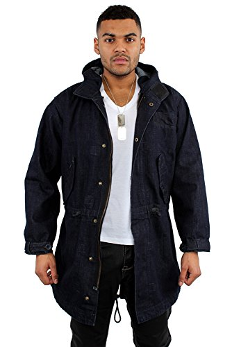 G-King Denim Parka - Star Coat Engineered Hooded Jacket