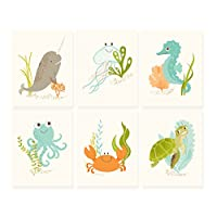 Sea Urchin Studio Print Set, Ocean Friends