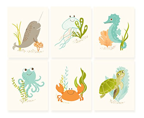 - Sea Urchin Studio Print Set, Ocean Friends