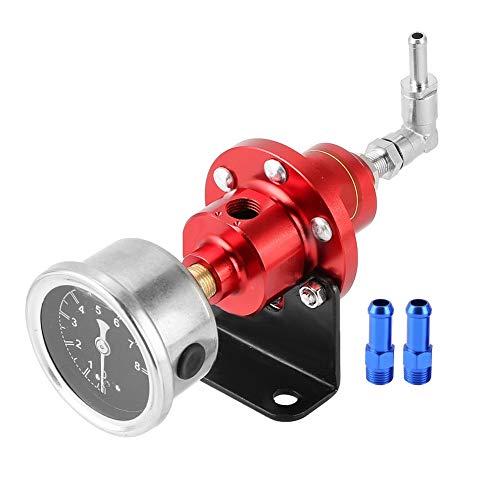 Pressure Regulator Fuel Pressure Regulator Universal Aluminum Alloy Adjustable Fuel Pressure Regulator (Red):