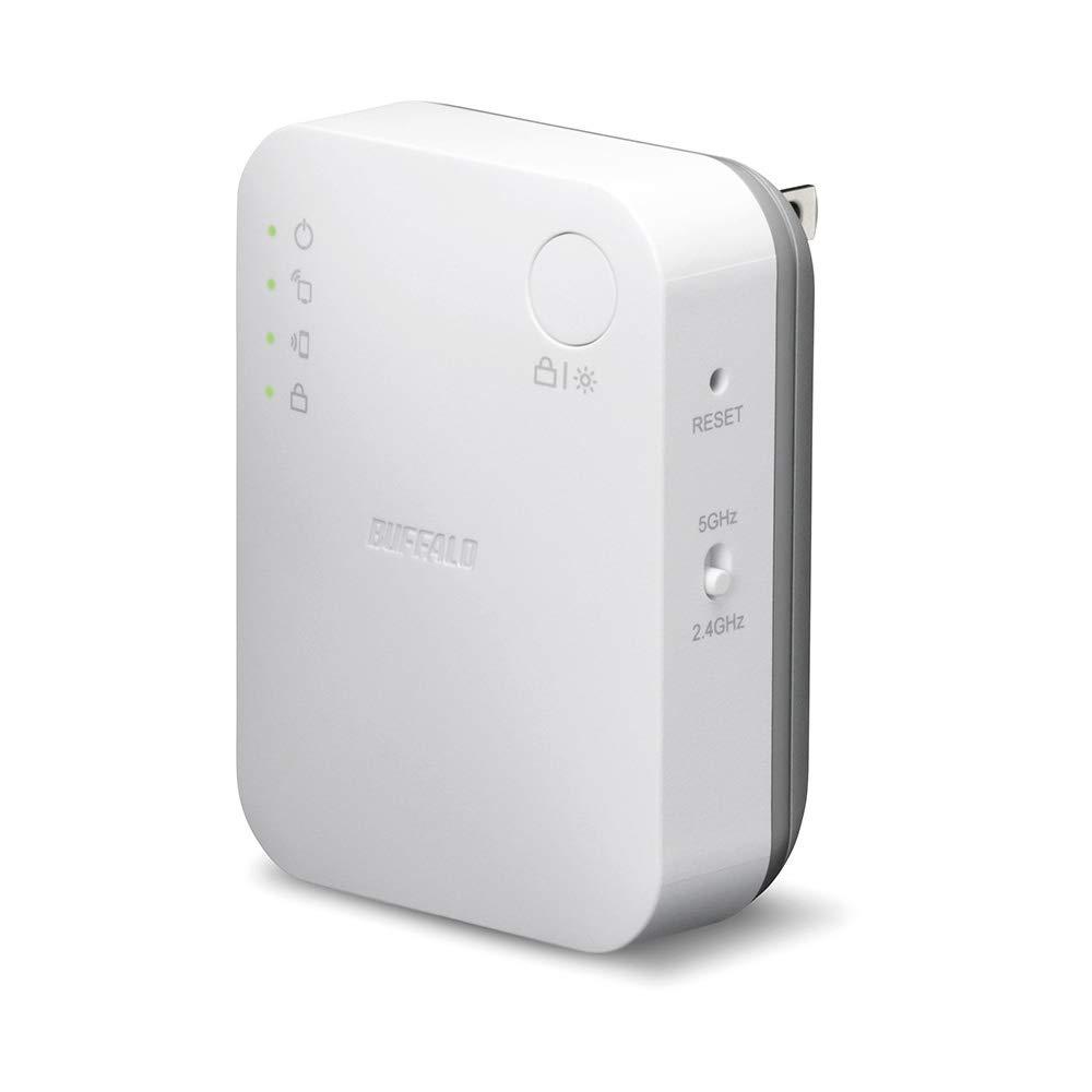 BUFFALO WiFi 無線LAN 中継機 WEX-733DHP/N 11ac 433+300Mbps コンセント直挿しモデル 簡易パッケージ【iPhoneX/iPhoneXSシリーズ メーカー動作確認済み】