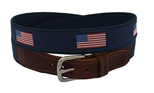 Epic Mens American Flag Ribbon Belt Size 32