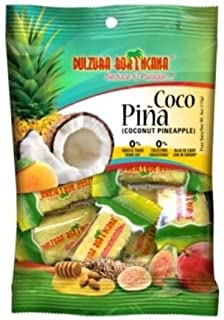 Dulzura Borincana Coconut Pineapple Candy /Coco Piña 96g