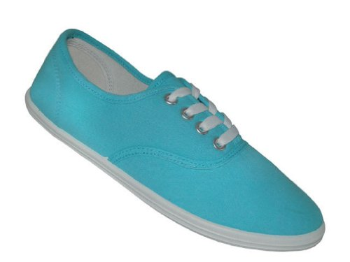 Shoes8teen Schuhe 18 Damen Canvas Schuhe Schnürschuhe Sneakers 18 Farben erhältlich Azule 324