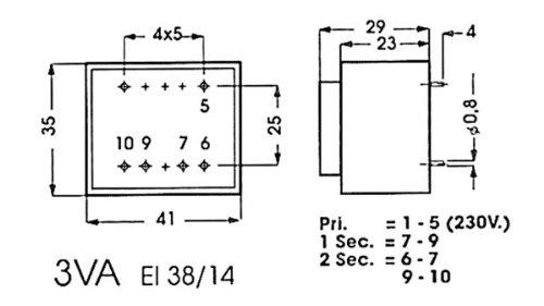 Info Games 138801 Print Transformer, 3va, 1 x 9 V/1 X 0.333 Amp 1x 9V/1X 0.333Amp