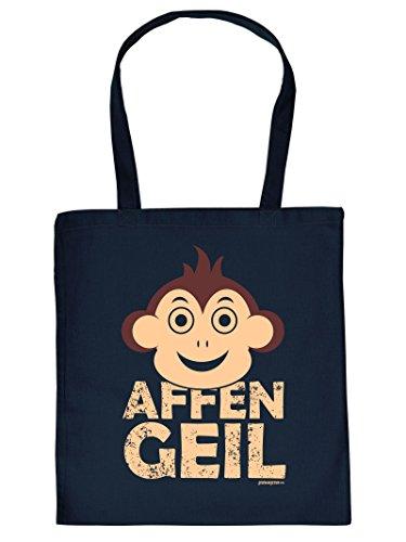 AFFEN GEIL - -Tote Bag Henkeltasche Beutel mit Aufdruck. Tragetasche, Must-have, Stofftasche. Geschenkidee