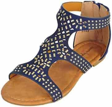 5dbc75100a2 Shopping Blue - Zip - Sandals - Shoes - Girls - Clothing