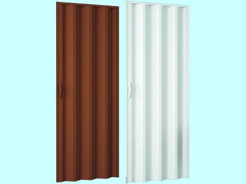 PORTE A SOFFIETTO PVC 82X210 MARRONE NOCE 085773
