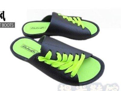 Xing Lin Sandalias De Hombre Tendencia De Verano Flip Flop MenS Flip Flops Tie Par Zapatos De Moda Sandalias Zapatos De Hombre Cuidado Grandes Astilleros 4240 Black Green Belt