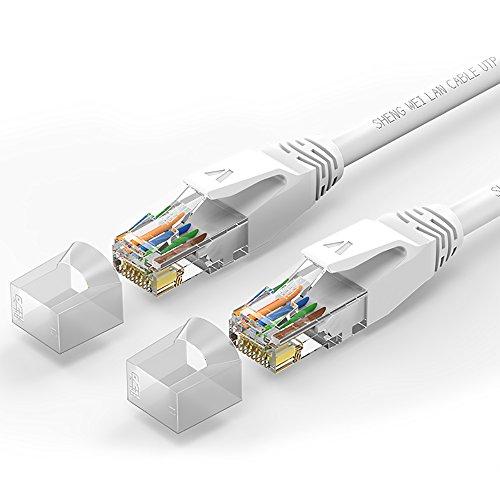 0.5M Flat UTP Ethernet Network Cable (Black) - 6