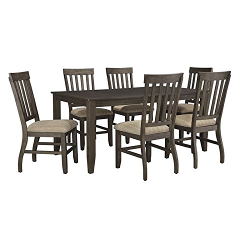 Ashley Dresbar 7 Piece Dining Set in Grayish Brown