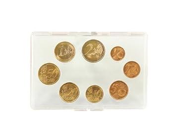 Lindner s8481 de plexiglás (funda para las monedas de Euro: Amazon.es: Juguetes y juegos