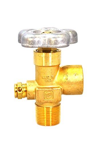 Sherwood Global Valve | for Inert Gas Services - Argon, Nitrogen, Helium | Brass Material | CGA580 Outlet | 3/4