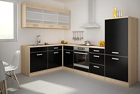 Küchen-Preisbombe Top Cucina Lina 180 x 280 cm cucina riga Nero ...