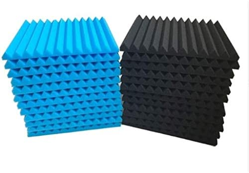吸音吸音パネル、(24PCS)多機能三角溝ソフトカラースポンジレコーディングスタジオの寝室の吸音コットン(カラー:24個) (Color : 24 PCS)