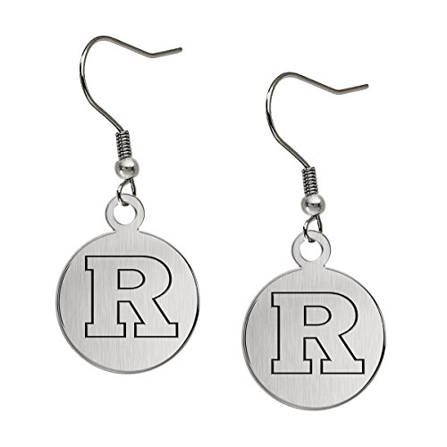 (Rutgers Scarlet Knights Satin Finish Stainless Steel Disc Earrings)