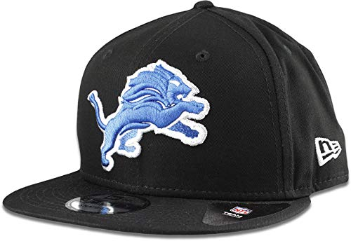 New Era Detroit Lions Hat NFL Black Team Color Logo 9FIFTY Snapback Adjustable Cap Adult One Size