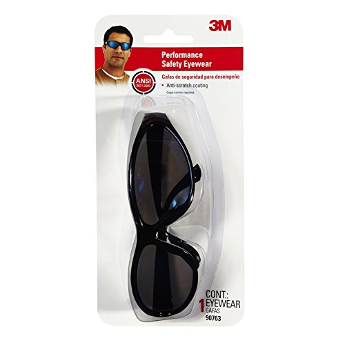 3M 90763-80025T Tekk Protection Classics Series Safety Eyewear Dual-Lens Design with Blue Mirror Lenses and Black - Safety Sunglasses 3m