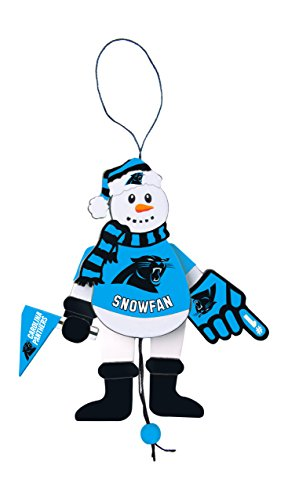 NFL Carolina Panthers Snowman Ornament