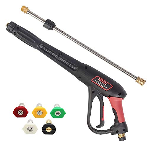 Twinkle Star Pressure Washer Gun with 21 Inch Pressure Washer Wand, 5 Spray Nozzles Tips, 4000 PSI