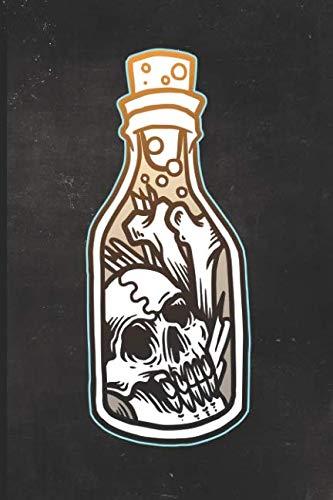 Journal: Bones in a Bottle Tattoo Design Dot Grid Tattoo Flash Sketching Journal]()