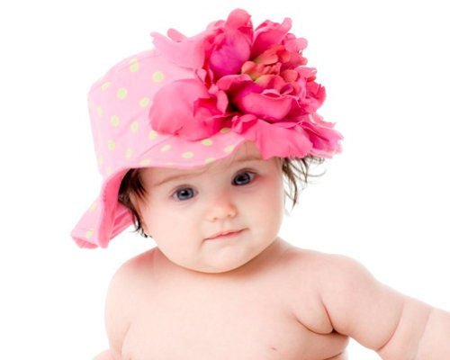 Jamie Rae Hats Baby Girl's Sun Hat- Candy Pink Dot with Raspberry Peony 12m-2y