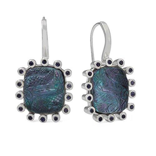 Stephen Dweck femme  Argent 925/1000  Argent|#Silver Coussin   Bleu Kristall