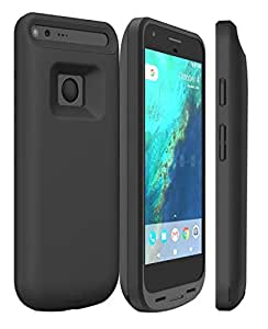 Google Pixel XL Battery Case, ALCLAP 5000mAh Rechargeable Battery Charger Case Portable Charging Case Power Backup Support Data Sync with Type C Cable Input Mode for Google Pixel XL (5.5 Inc