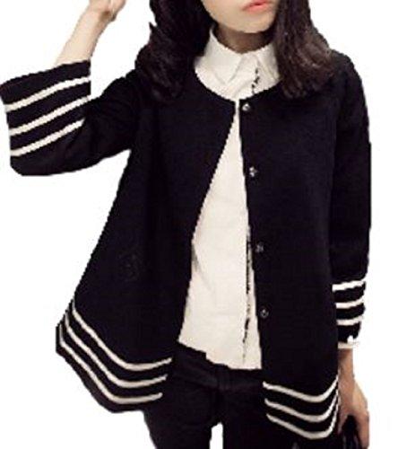 [ニブンノイチスタイル] 1/2style 襟なし ジャケット 羽織 もの ショート 丈 ブラック レディース