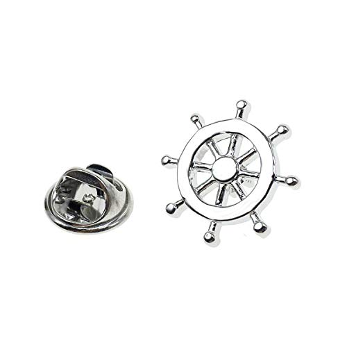 Cuff-Arts Lapel Pin Badges Ships Wheel Pin Brooch Buttons Pins with a Gift Box P10063