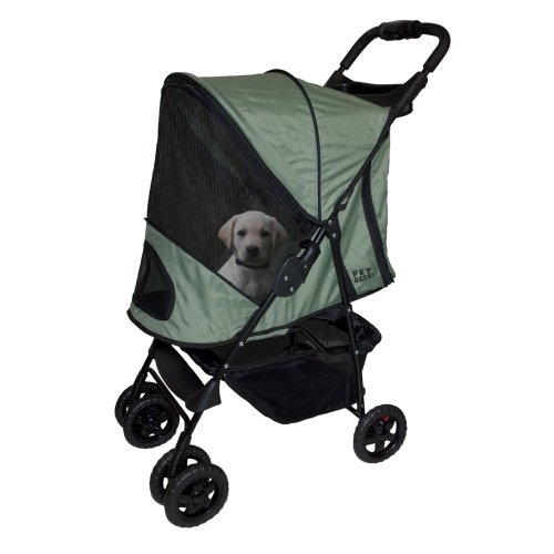 Pet Gear Happy Trails Stroller for Pets Up to 30-Pound, Sage, My Pet Supplies