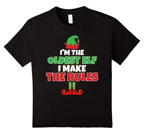 stmas Shirt - Make The Rules Kids Funny Gift 4 Black ()