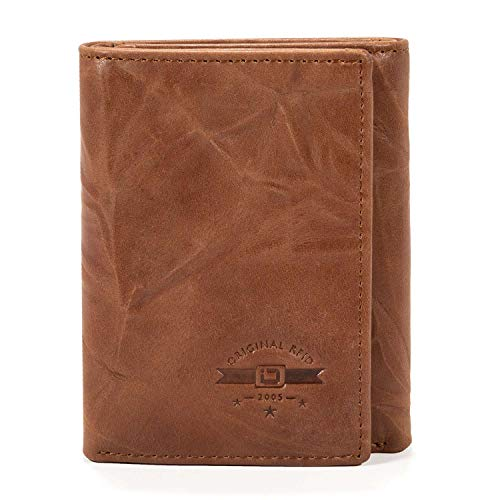 ID Stronghold RFID Blocking Trifold Wallet for Men - Crazy Horse Western -