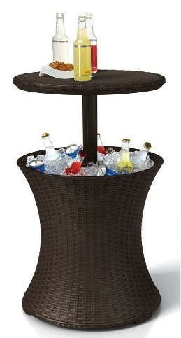 amazon com patio table with cooler drinks cooler table outdoor rh amazon com beverage cooler patio table outdoor cooler table