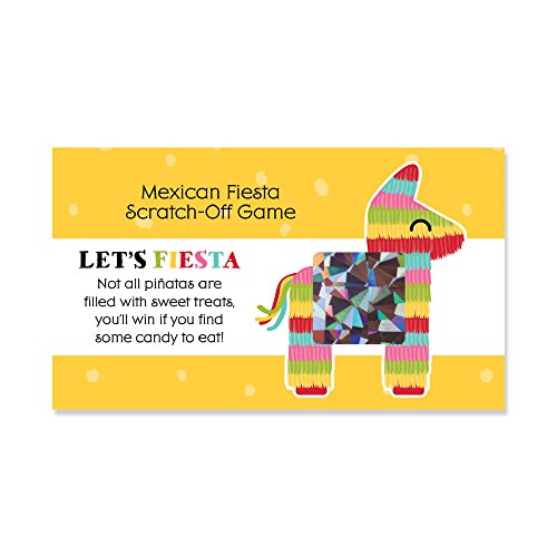 Big Dot of Happiness Let's Fiesta - Mexican Fiesta Party Game Scratch Off Cards - 22 Count