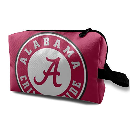Sfjgbfjs Alabama Crimson Tide Circle Travel Storage Bags Luggage Packing Bag with Zipper for Travel Cubes Set for Travel