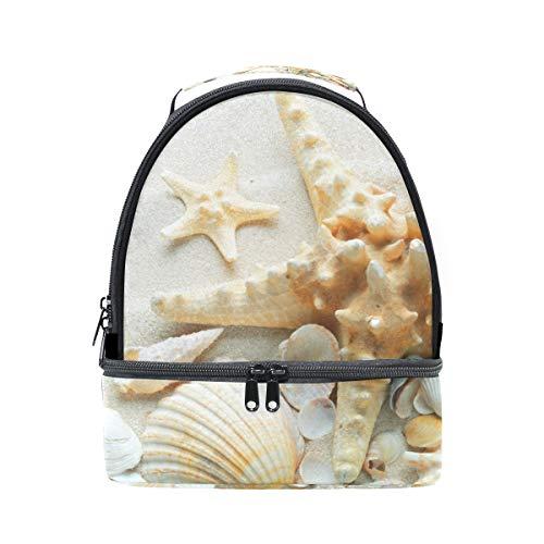 Sac mer déjeuner Cooler épaule Sable coquillages avec plage pour Sangle pique réglable de nique double à étoile de et 5qtxrztwO