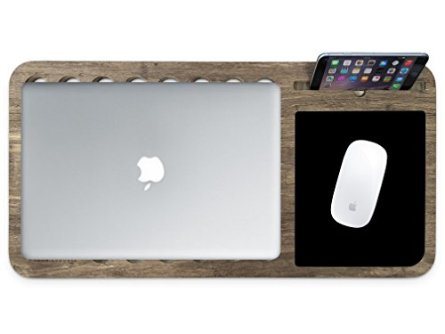 Slate 2.0 for MacBook and Magic Mouse - Essential Mobile LapDesk - iSkelter Apple Solutions - for MacBook, Pro, and Air - for Professionals, Designers, and Students (in Limited Walnut Bamboo)