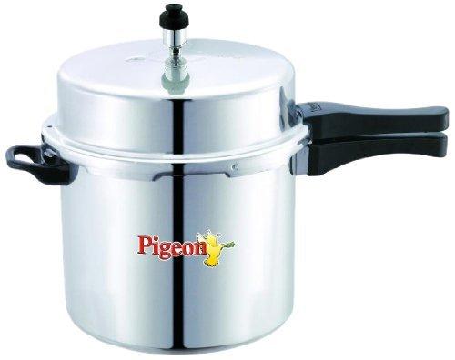 Pigeon Deluxe Aluminium Pressure Cooker, 10 Litres
