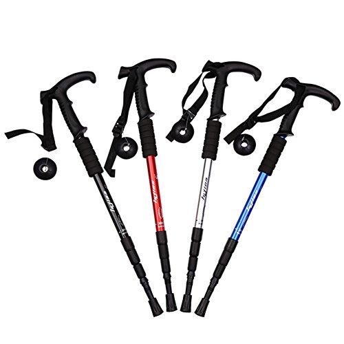 Shengfn Anti Shock Ajustable Walking Sticks Hicking/trekking Trail Poles (Black)