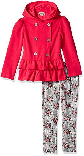 Calvin Klein Baby Girls 2 Pieces Jacket Set, Pink/Print, 3T Clothes 2 Piece Jacket