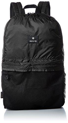 (Snow Peak Pocketable Daypack, Black, One Size)
