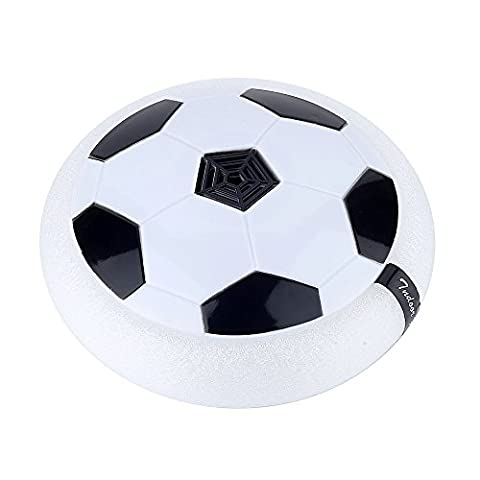 Air Power Soccer Disk Indoor Outdoor Hover Hockey Football Toys White - Power Air Hockey